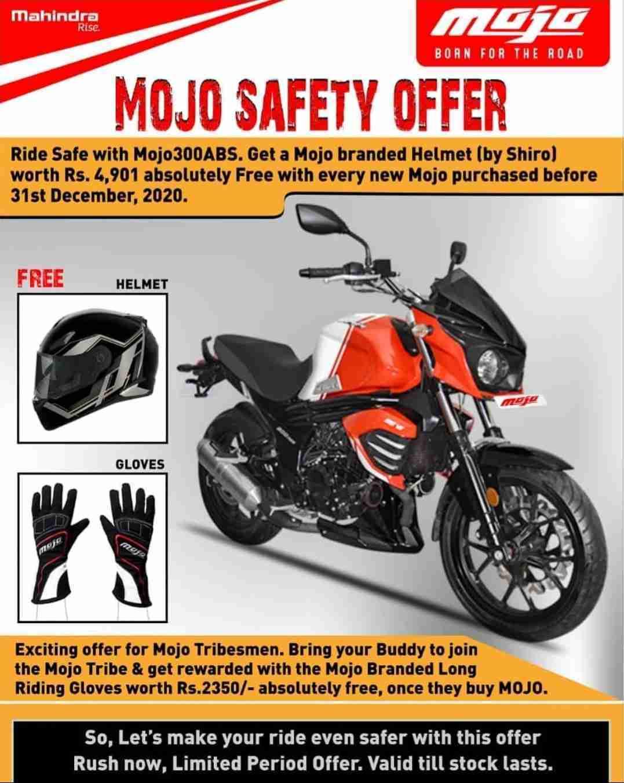Mahindra Mojo Offers Free Shiro Helmet