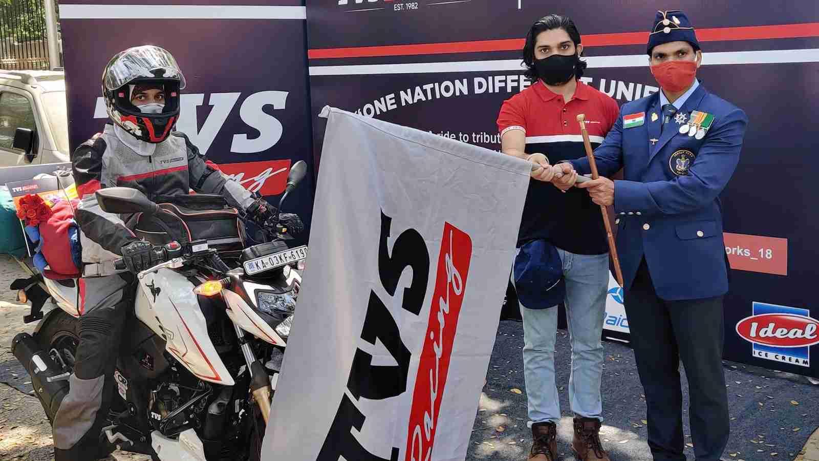 Mr. Shrivishnu S 'One Nation Different Uniform' ride powered by TVS