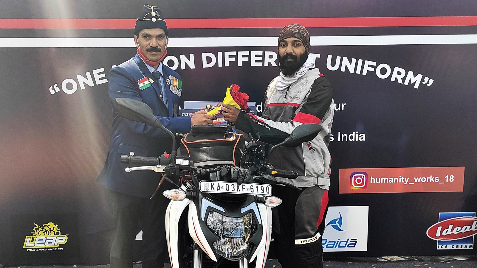 'One Nation Different Uniform' ride powered by TVS