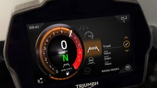 Speed Triple 1200 RS Instruments screen Riding Modes