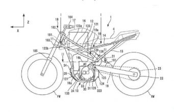 Honda Electric Motorcycle Patent Image