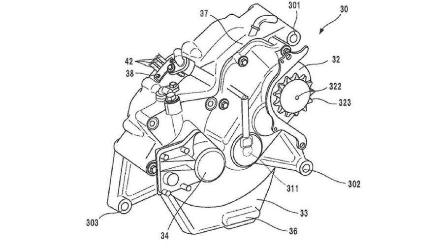Honda Electric Motorcycle Patent Image