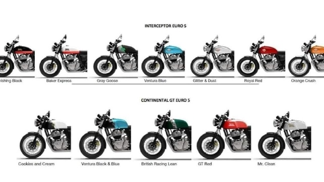 2021 Royal Enfield Interceptor 650 & Continental GT 650 Colours