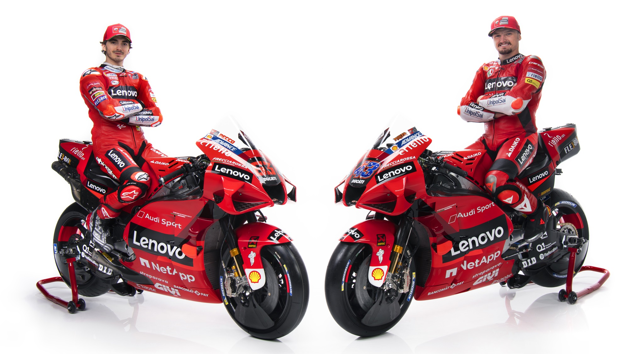 Miller and Bagnaia Ducati MotoGP team 2021