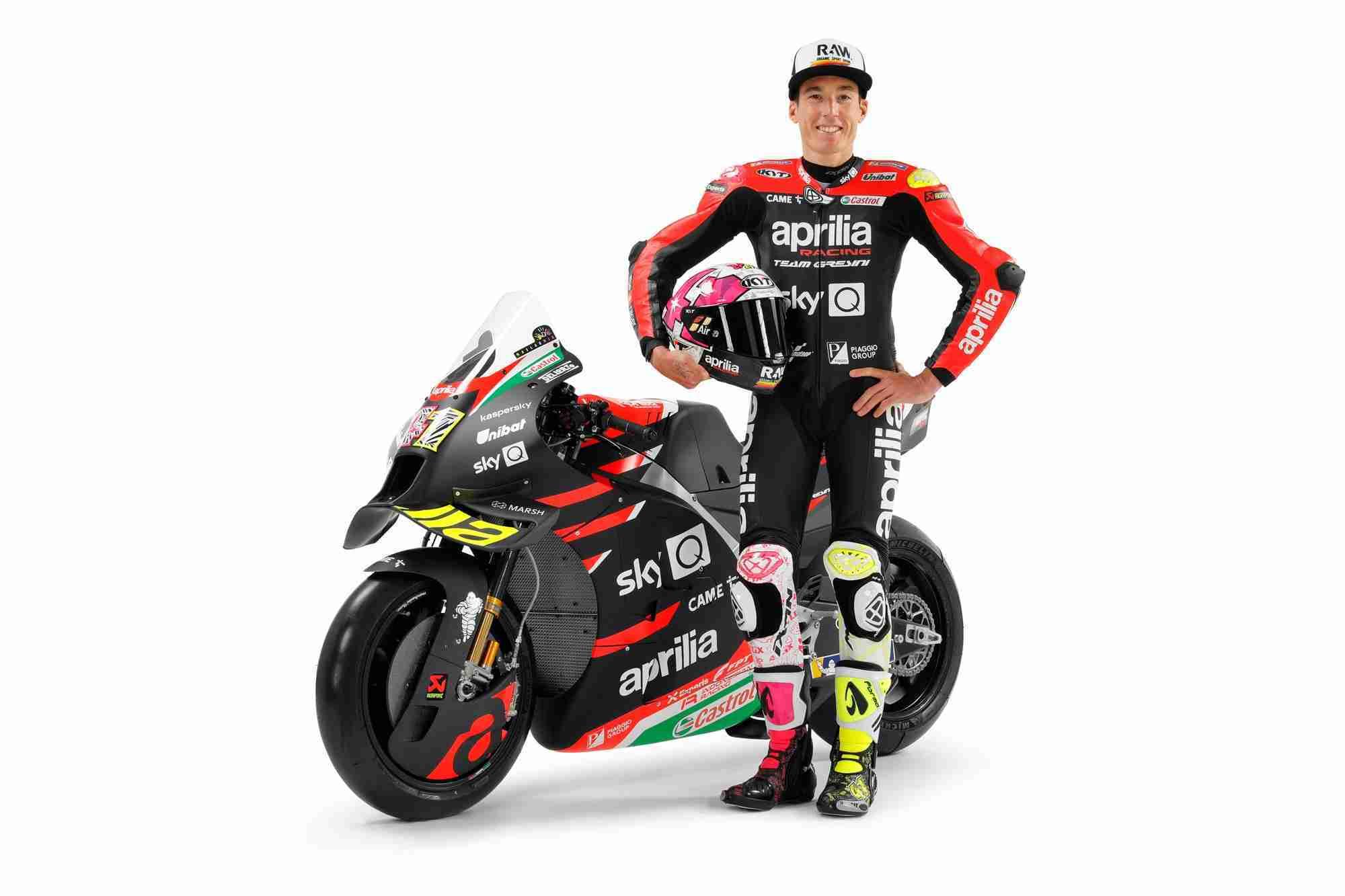 Aleix Espargaró with 2021 Aprilia RS-GP