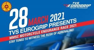 MMSC Motorcycle Endurance Race 2021 to be entirely on TVS Eurogrip tyres