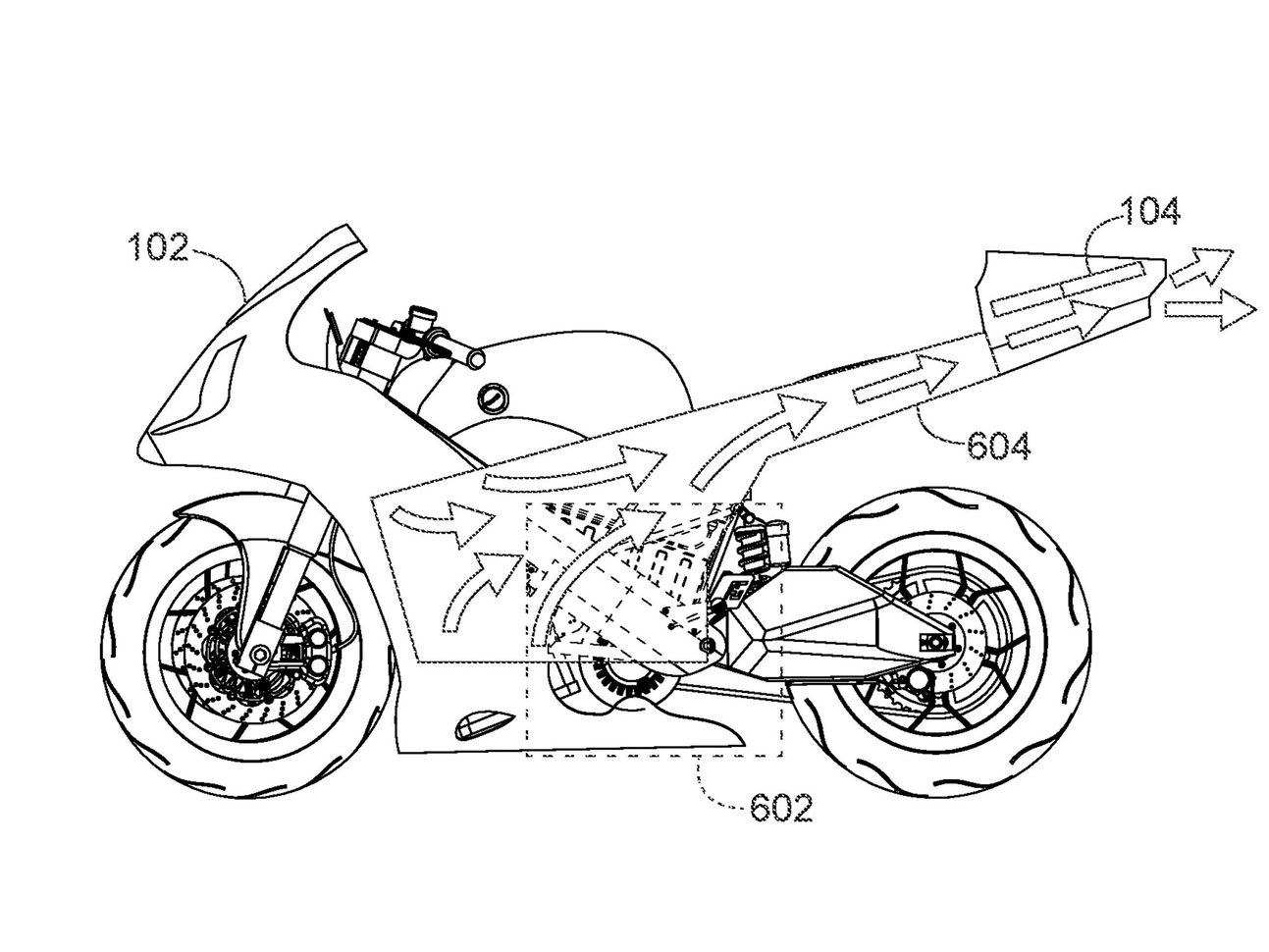 Honda Motorcycle-Mounted Drone Patent Images