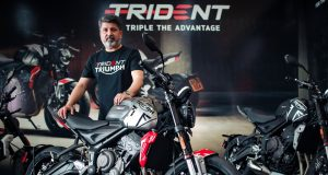Mr. Shoeb Farooq Trident 660 India launch