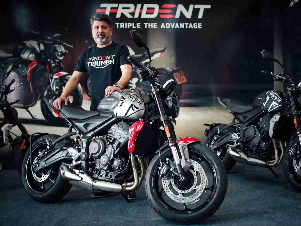 Mr. Shoeb Farooq Trident 660 India launch