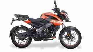 Pulsar NS 125 Fiery Orange colour options