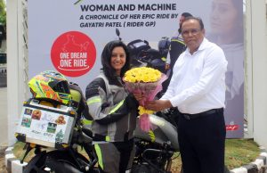 TVS Apache rider Gayatri Patel