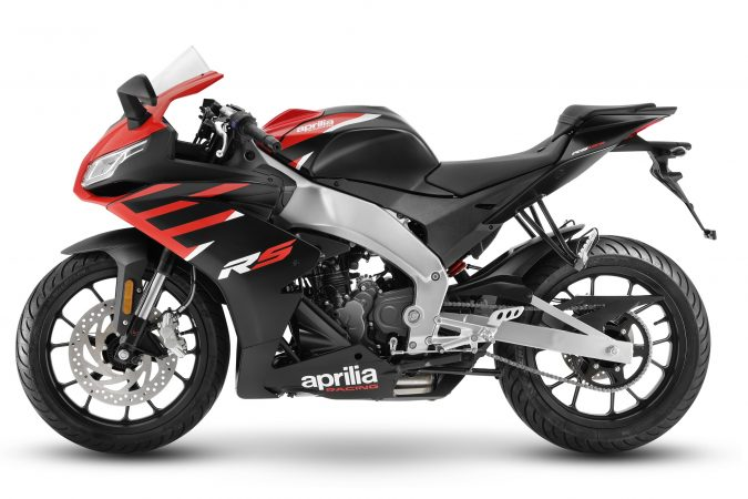 2021 Aprilia RS 125 Aprilia Black Red left side