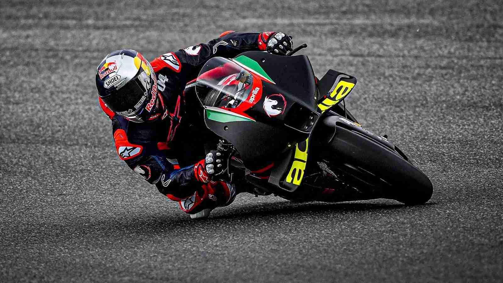 Andrea Dovizioso on Aprilia RS-GP