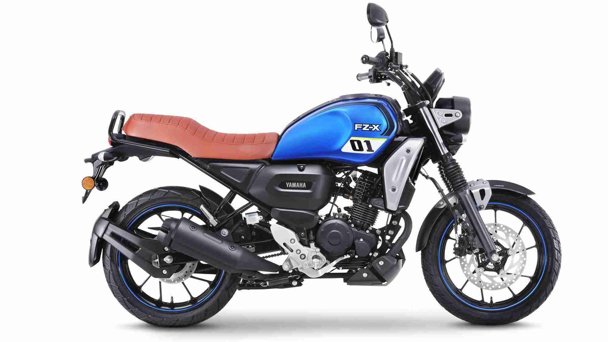 Yamaha FZ-X Metallic Blue colour option