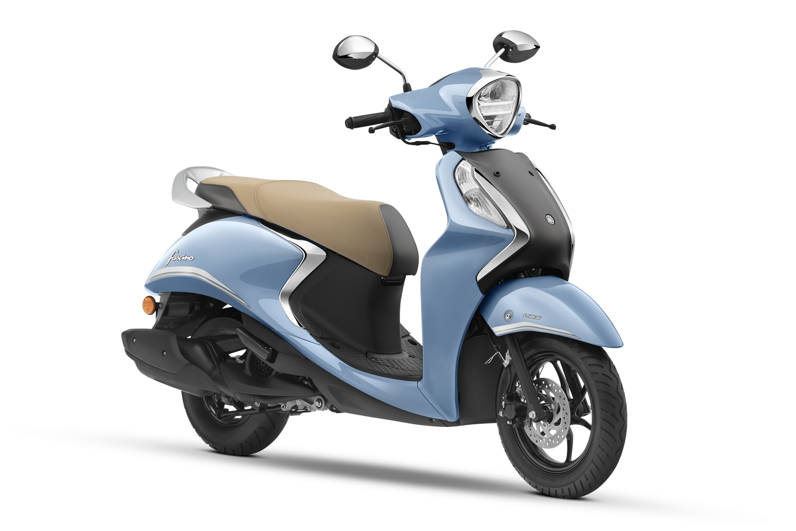 Yamaha Fascino 125 Fi Hybrid cool blue metallic colour option