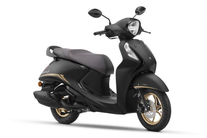 Yamaha Fascino 125 Fi now with Hybrid Power Matte Black Special colour option