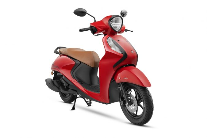 Yamaha Fascino 125 Fi now with Hybrid Power Vivid Red Special colour option