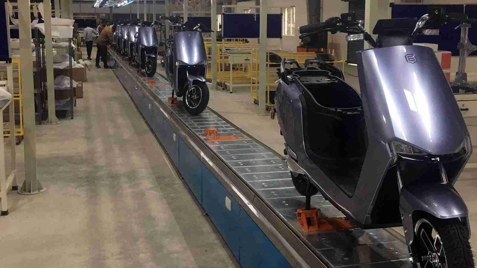 BGauss Factory assembly line