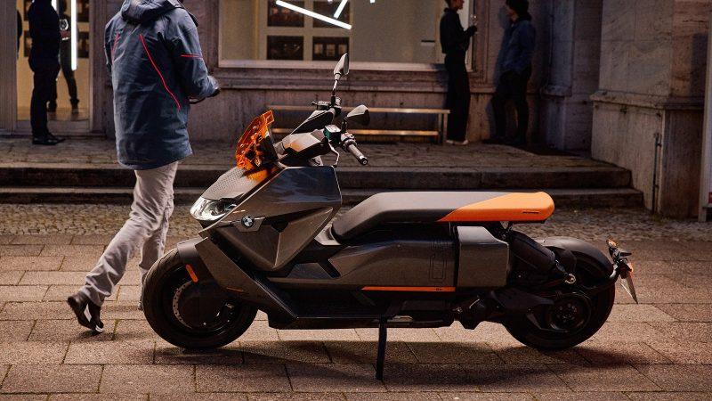 BMW CE 04 electric scooter side view left