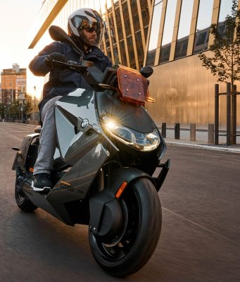 BMW CE 04 electric scooter riding