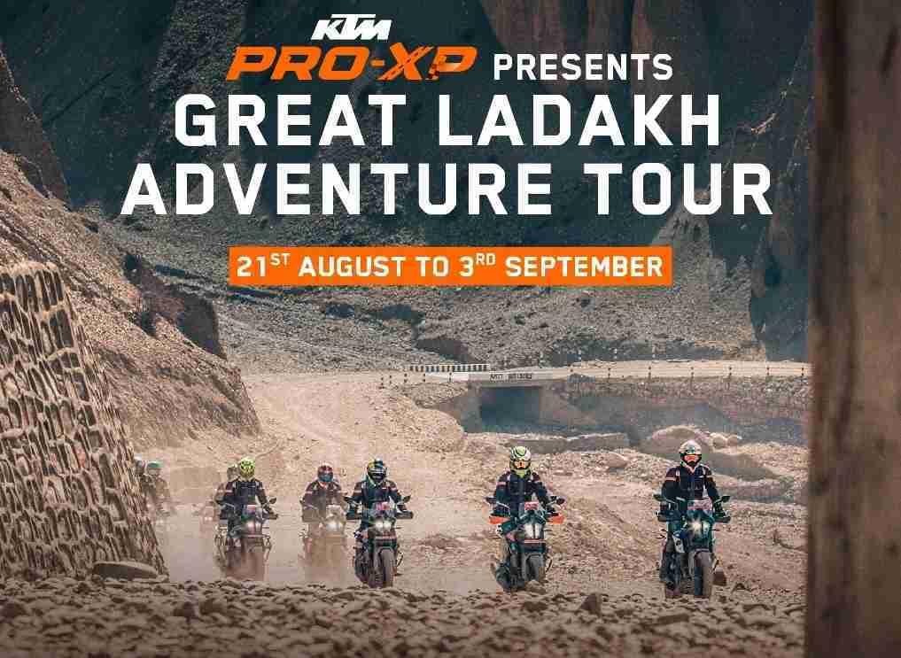 Great Ladakh Adventure Tour from KTM announced