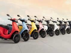 Ola Electric scooter colour options