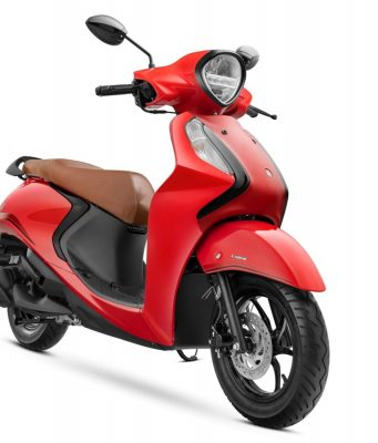 Yamaha Fascino 125 FI Hybrid Disc Variant - Vivid Red Special colour option