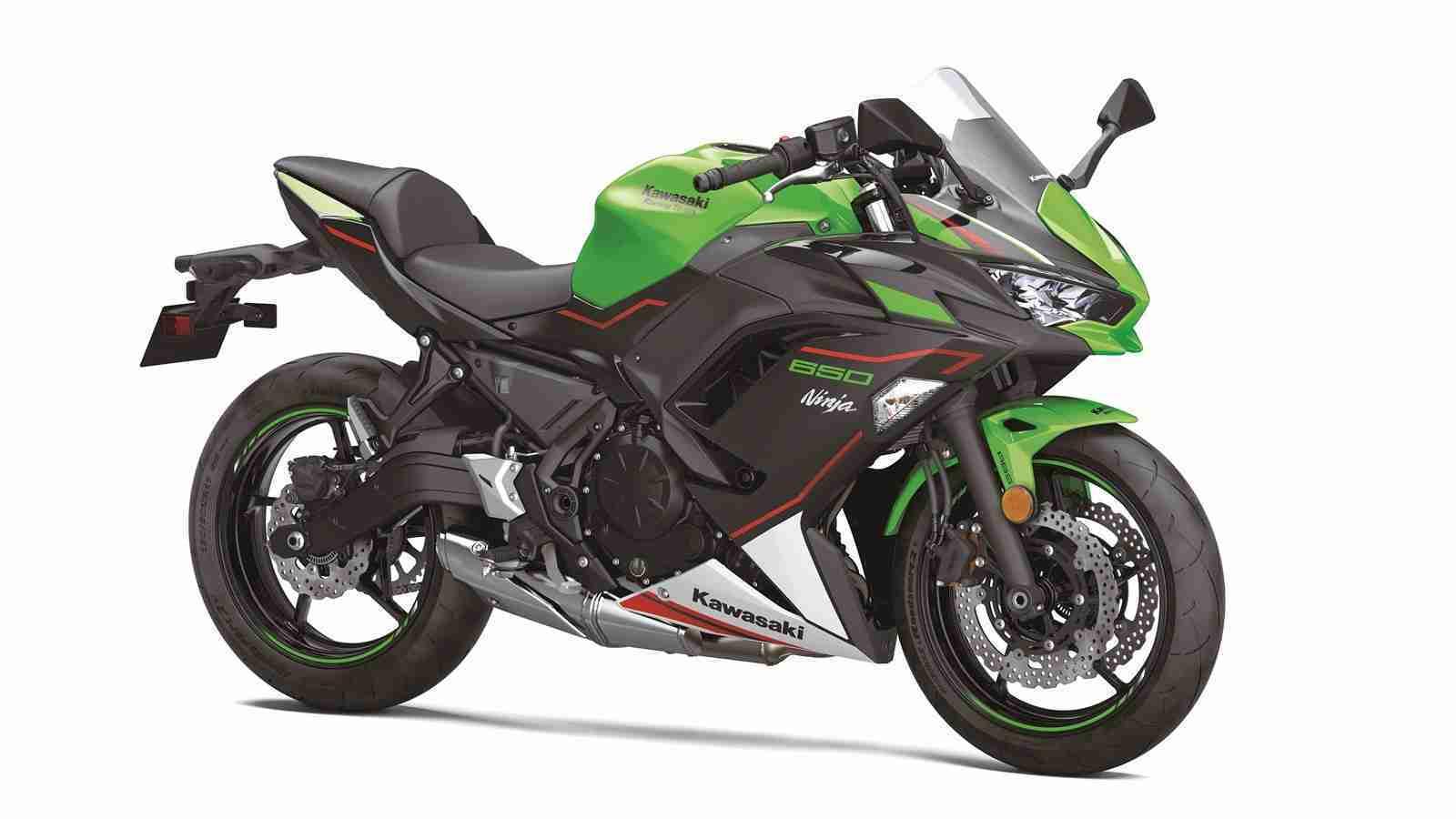 BS6 2022 Kawasaki Ninja 650 LIME GREEN colour option