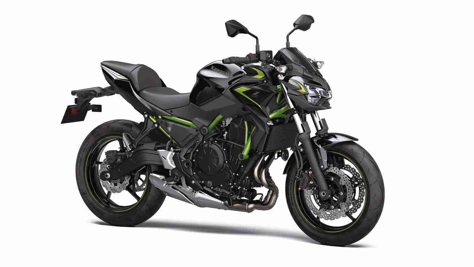BS6 2022 Kawasaki Z650 CANDY LIME GREEN TYPE 3 colour option
