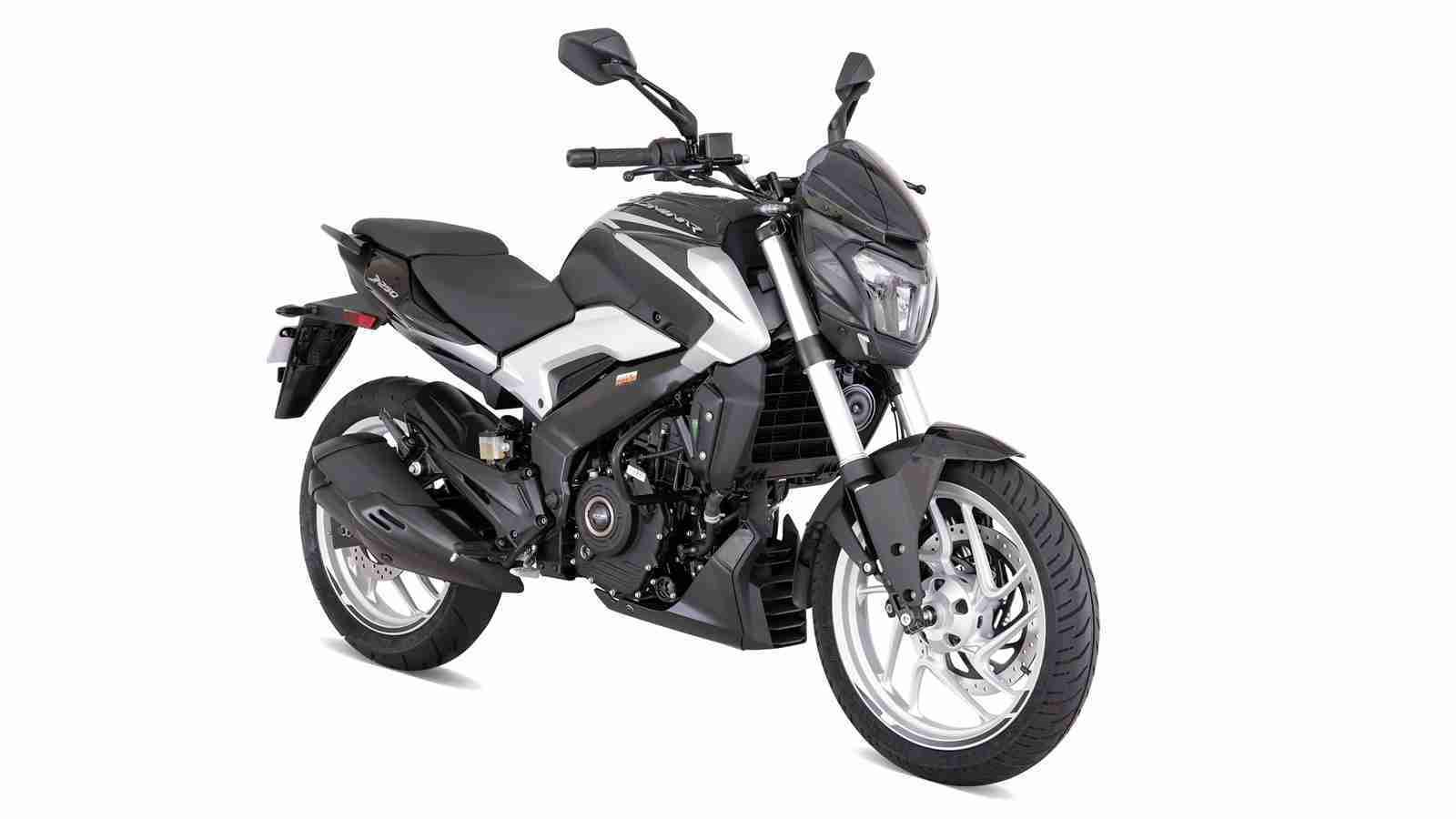 Dominar 250 colour option Sparkling Black + Matt Silver