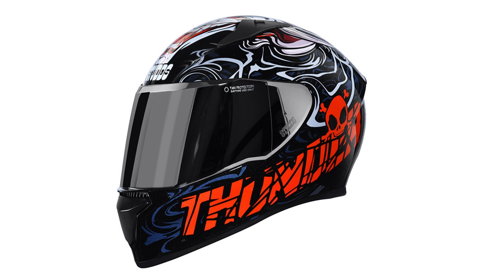 STUDDS Thunder D9 Decor full face helmet D9-BLACK-N2