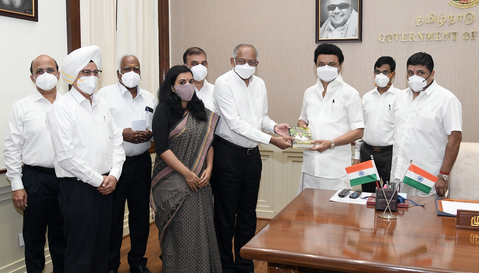 'A Silent Revolution' book launched by TVS; The Journey of the Srinivasan Services Trust with Thiru M.K. Stalin, Hon'ble Chief Minister, Tamil Nadu