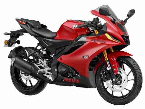 Metallic Red Yamaha R15 V4 colour option