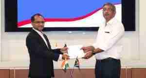 Mr. Rajeev Saxena, Director, ETGL with Mr. R Dilip, President – International Business, TVS Motor Company