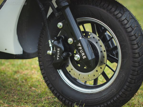 PURE EV Etrance Neo front disc and tyre