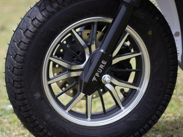 PURE EV Etrance Neo front wheel alloy with fork