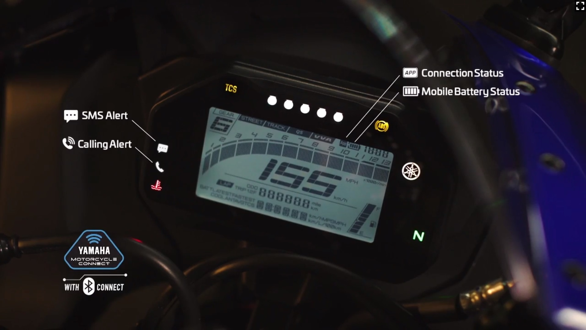 Yamaha R15 V4 digital meter