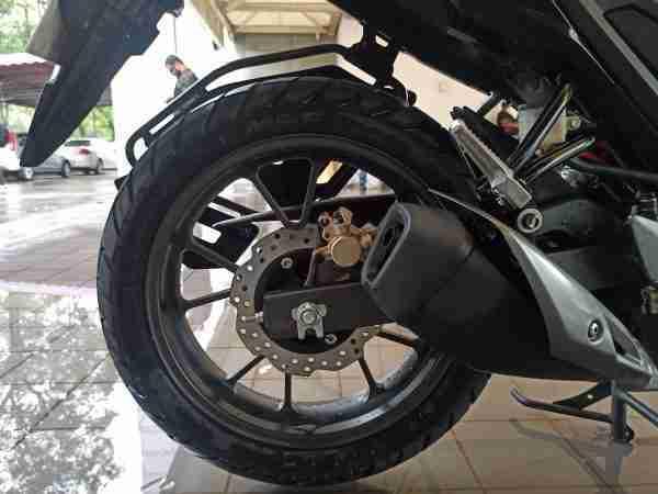 Honda CB200X back disc and silencer