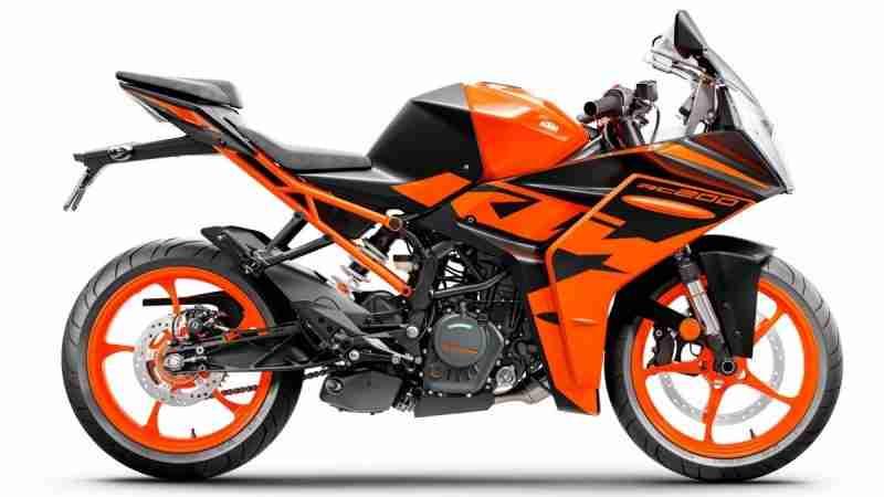 KTM RC 200 Dark Galvano colour option