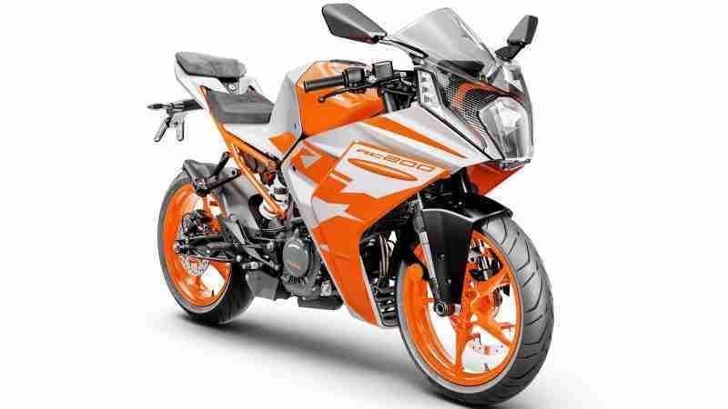 KTM RC 200 Silver Metallic colour option