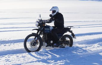 Royal Enfield Himalayan heading to the South Pole
