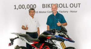 TVS and BMW have now made 1 lakh motorcycles together